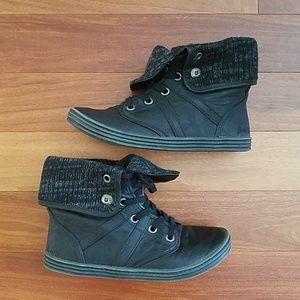 Blowfish Malibu Razmitten Fold-over Sneaker/Bootie